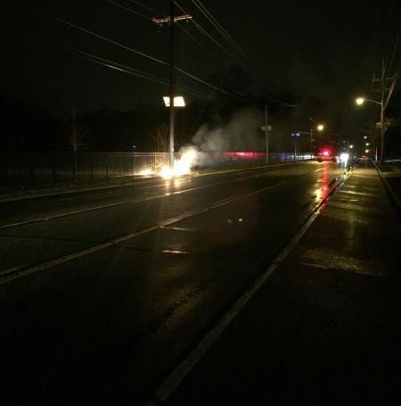 Downed Wires On Black Horse Pike