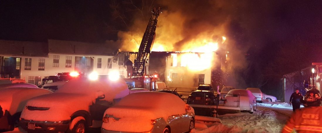 Multiple Families Displaced in 3 Alarm Apartment Fire