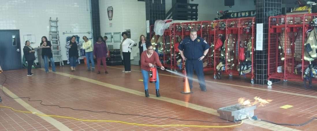 Camden County Women's Shelter Receive Fire Extinguisher Training