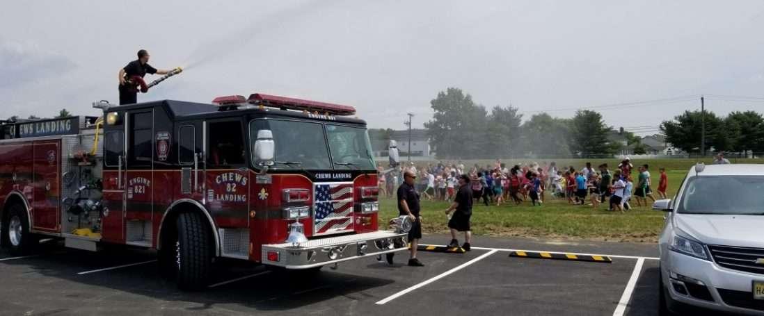 Wet Down at Laurel Hill Bible Church Soccer Camp