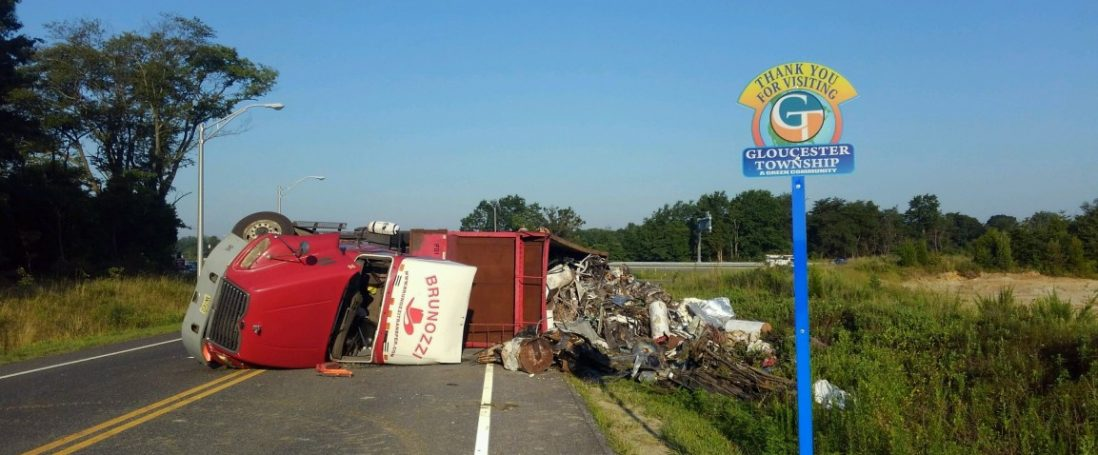 Overturned Tractor Trailer on Route 42
