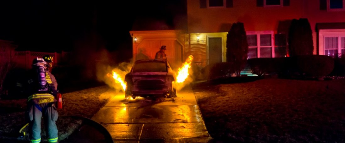 Station 82 and Engine 88 Help Battle Vehicle Fire in Blenheim